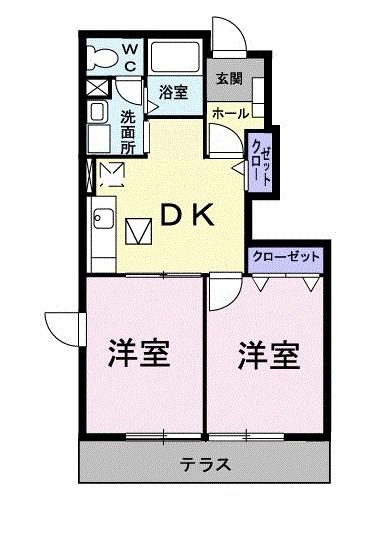パークサイドハウス・01020号室の間取り