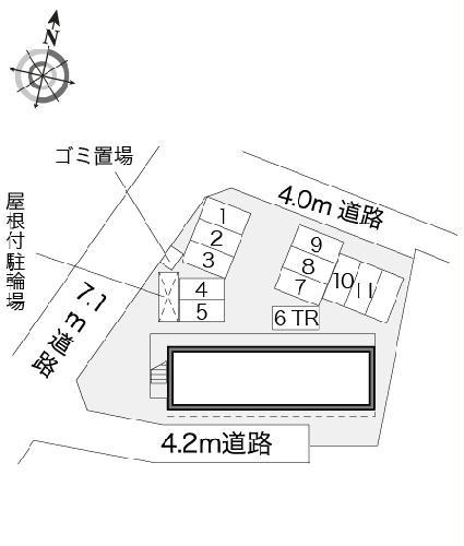 レオパレスフルールⅡ 204号室の駐車場