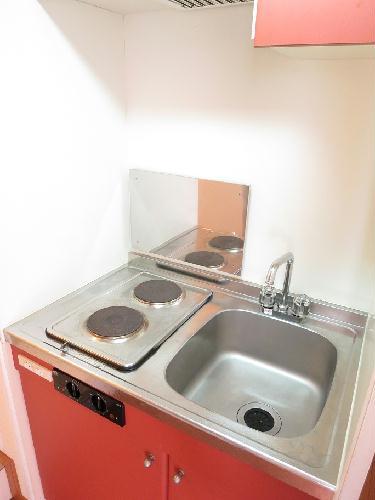 レオパレスフルールⅡ 204号室のキッチン