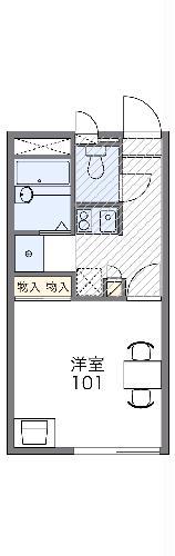 レオパレスSHIBASAKI・105号室の間取り