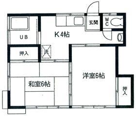 石川ハウス・102号室の間取り