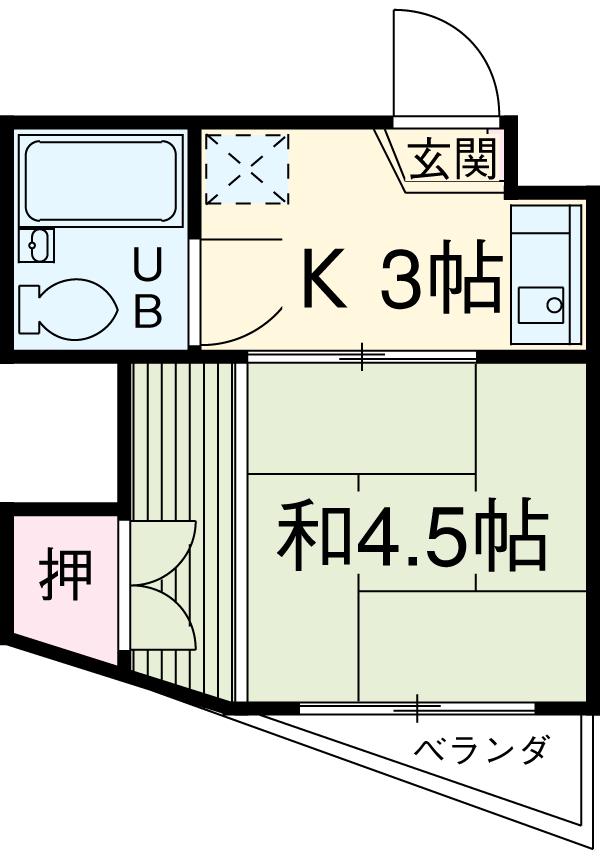 コーポ松井・204号室の間取り