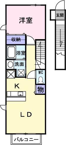 エス・エイ・カーサ・02010号室の間取り