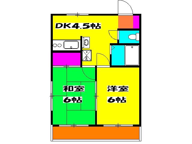 アビタシオン島・203号室の間取り