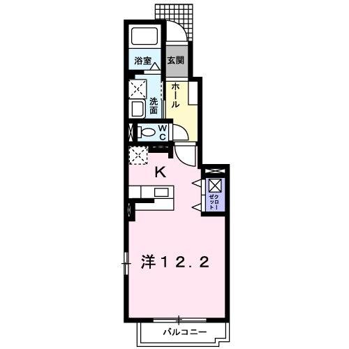 レイクタウンⅠ・01030号室の間取り