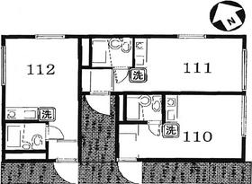 セイコーガーデン2・111号室の間取り