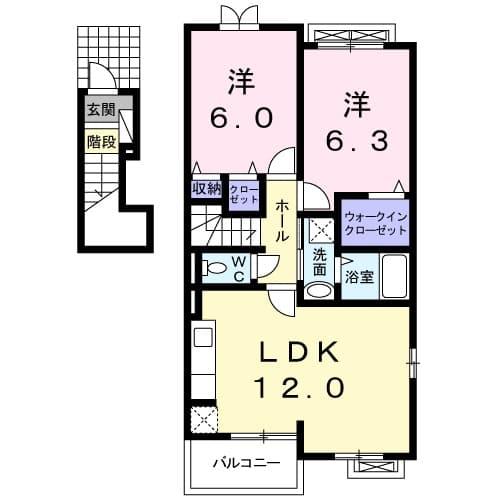 サニーホームⅡ・02010号室の間取り