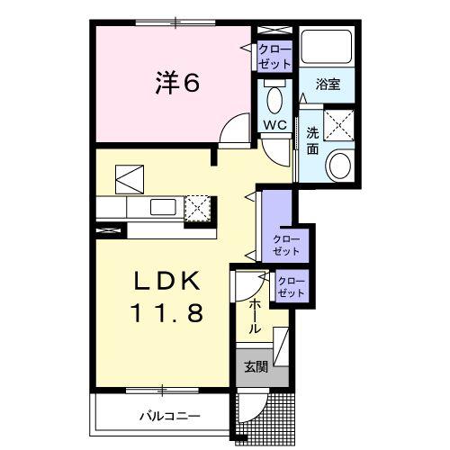 ストロベリ-ハウス A・01030号室の間取り