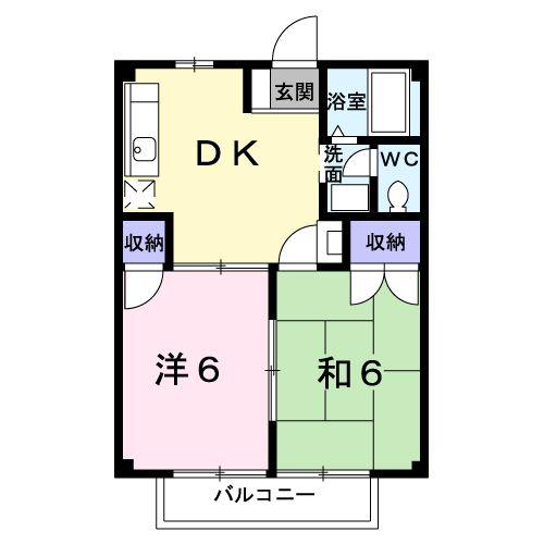 ファミール21・01020号室の間取り