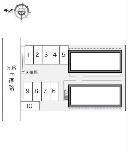 レオパレス西味鋺 206号室の駐車場