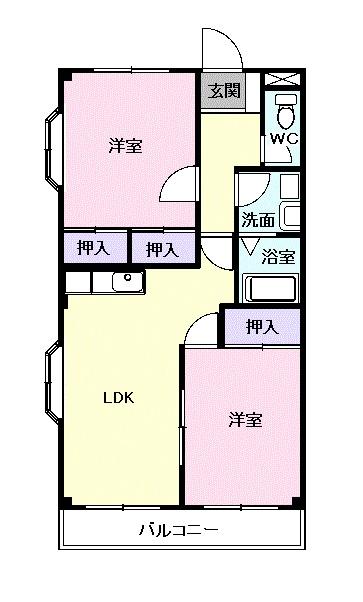 ファインパーク松ヶ瀬A棟・04040号室の間取り