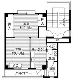 ビレッジハウス中津川第三1号棟・0503号室の間取り