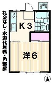 八光荘B・203号室の間取り