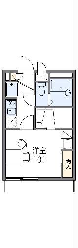 レオパレスキャンサーU・203号室の間取り