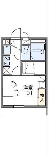 レオパレスTAKIYAMA・105号室の間取り