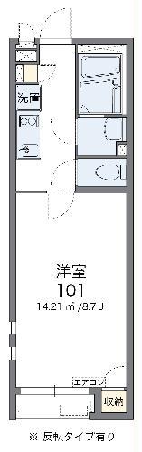クレイノトワ アモーレ・104号室の間取り