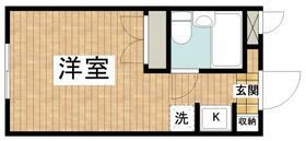 ペアヒルズ大和田 0106号室の間取り