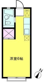 エステートピアFUJI(B)・201号室の間取り