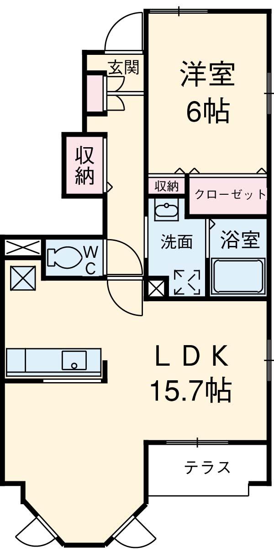 スタニングプレイスⅠ・01010号室の間取り