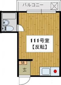 ヒューチャーハイム昭島・111号室の間取り