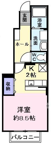 デフィ熊川・01020号室の間取り