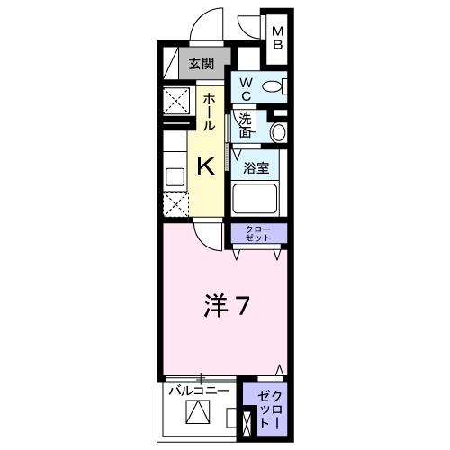 オーシャン幸・大塚・03020号室の間取り