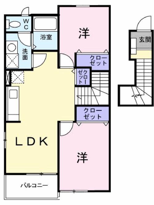 フィオ-レ・02050号室の間取り