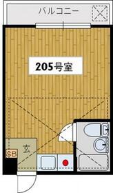 ヒューチャーハイム昭島・205号室の間取り