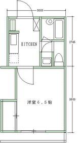 レールサイド南橋本・105号室の間取り