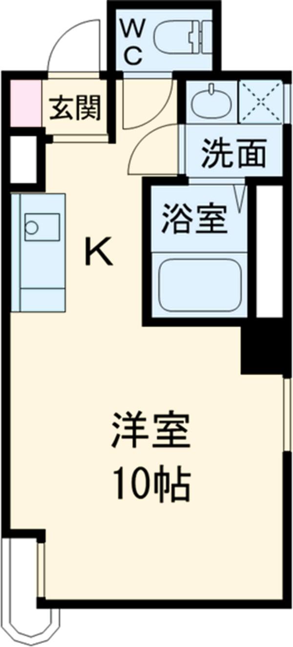 プチリヴェール昭和町 401号室の間取り