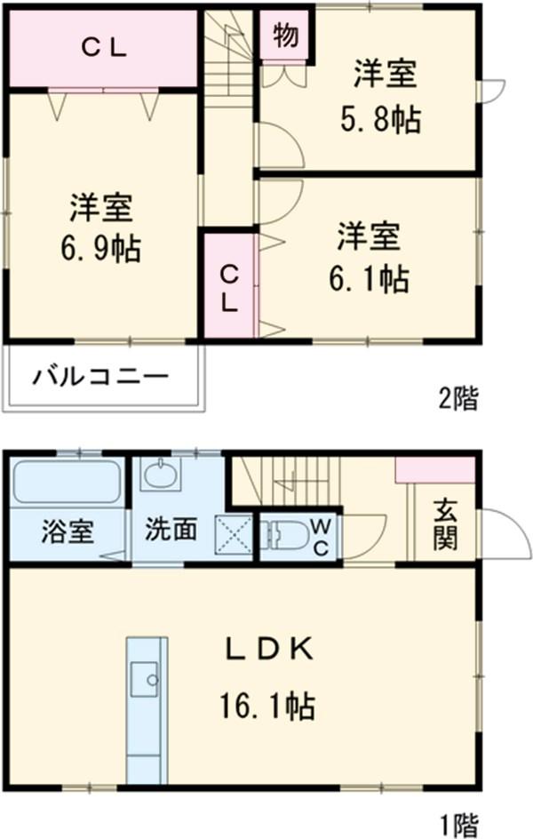 みずほ戸建賃貸住宅・B号室の間取り