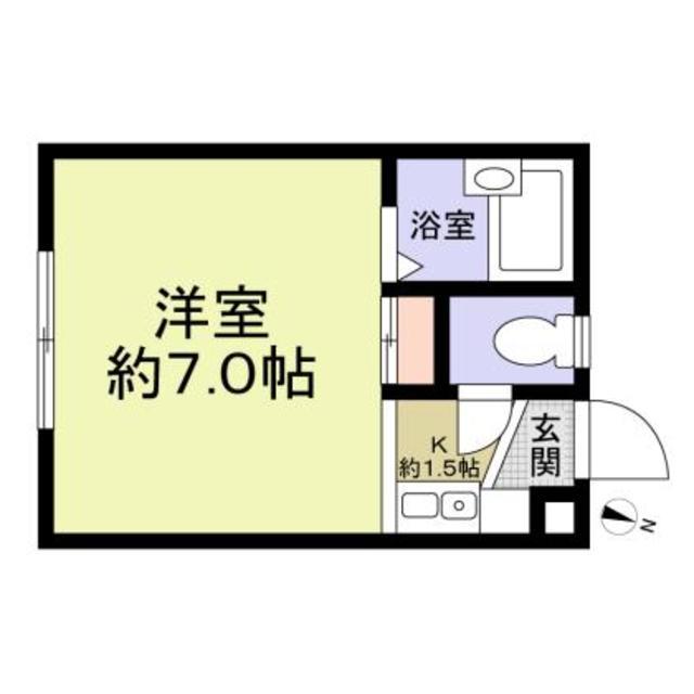 Flat Tamura・102号室の間取り