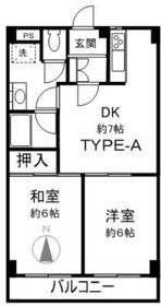 グリーンガーデン武蔵浦和・0310号室の間取り