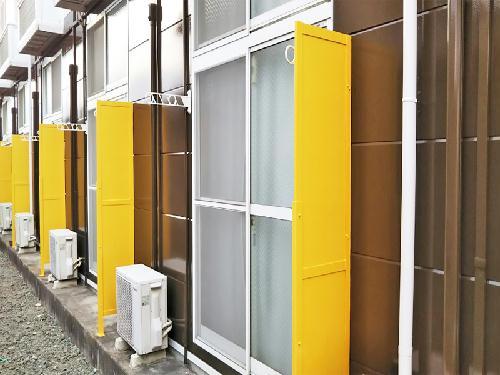 レオパレスエクセル 108号室のバルコニー