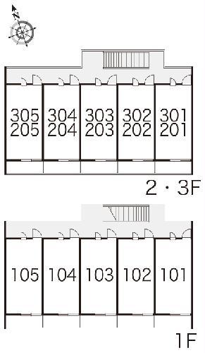 レオパレス小町A 102号室のベッドルーム