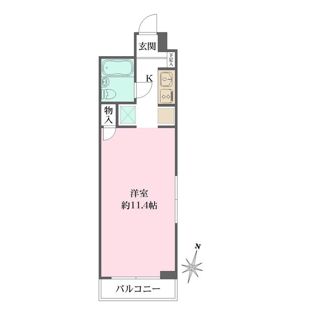 藤和西横浜ハイタウン・325号室の間取り