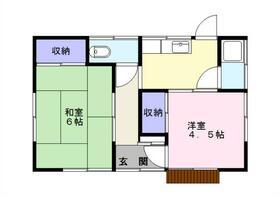 国吉アパート・3号室の間取り