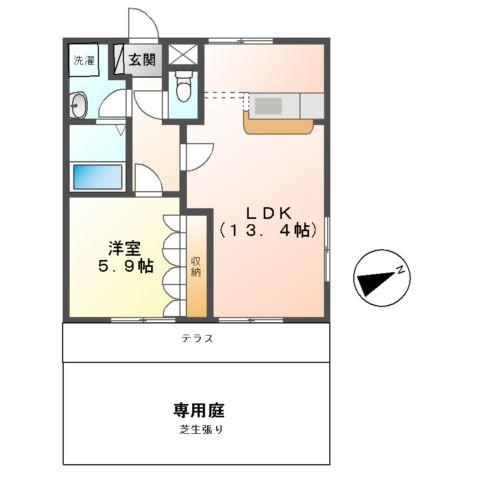 colonnade(コロネード) 101号室間取り図