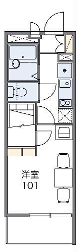 レオパレスエクセルハイムⅡ 302号室の間取り