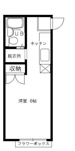 エステートピアMIKI(ミキ)・107号室の間取り