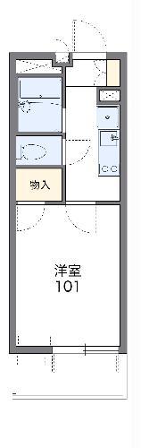 レオパレスグリーンビュー和田 105号室の間取り