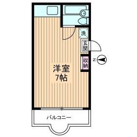 トクスケマンション・0401号室の間取り