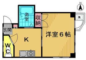 ガストハウス府中 205号室の間取り