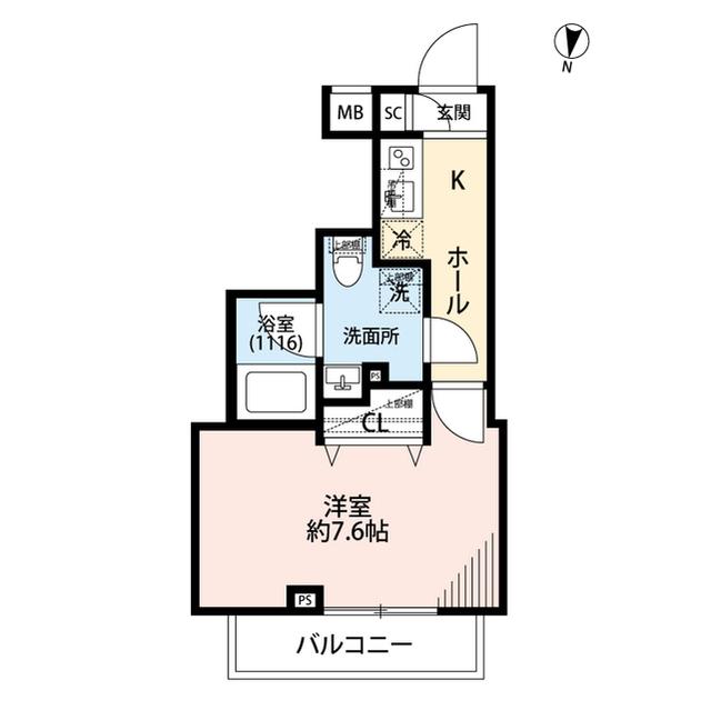 プレール・ドゥーク三宿・205号室の間取り