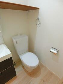 ハーミットクラブハウス二子新地(仮) 201号室のトイレ