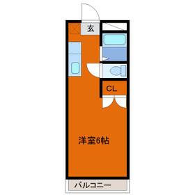 ヒロ大巌寺・205号室の間取り