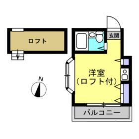 ハイツ高島平 201号室の間取り