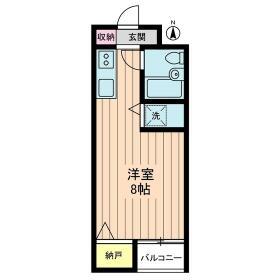 江古田ハイツ・0302号室の間取り