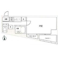 スカイコート文京湯島・304号室の間取り