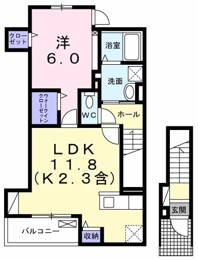 武蔵野ハイツ1・02040号室の間取り